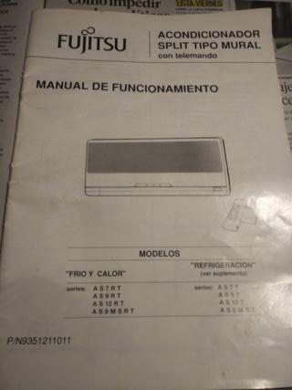 Mando del aire acondicionado y manual FUJITSU