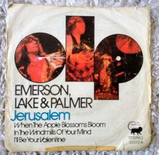 Single emerson lake and palmer jerusalem