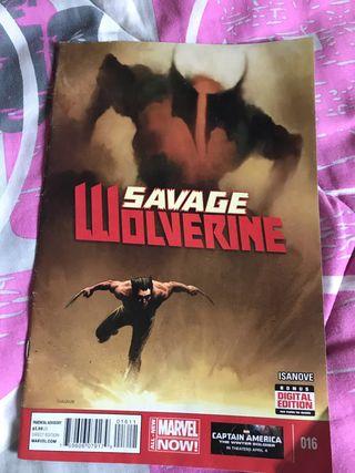 Cómic savage wolverine