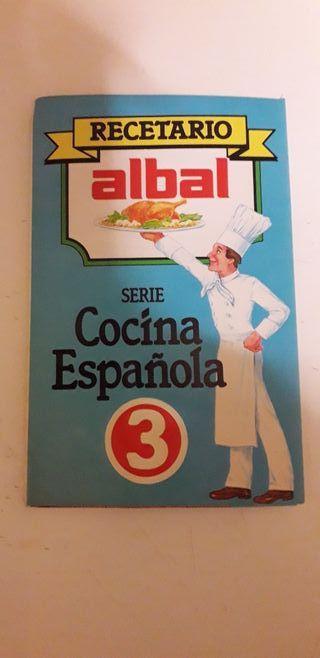 Folleto publicidad antigua vintage recetas Albal