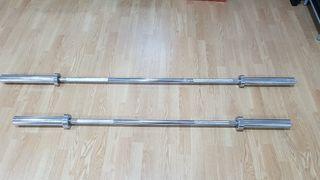 Barras olimpicas 180 y 150cm. 15kg.