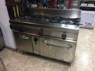 Cocina industrial 3 fuegos mas horno