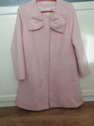 abrigo paño rosa