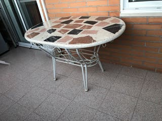 Mesa jardín intemperie 120x80