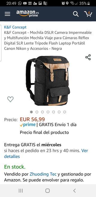 mochila fotografía dron
