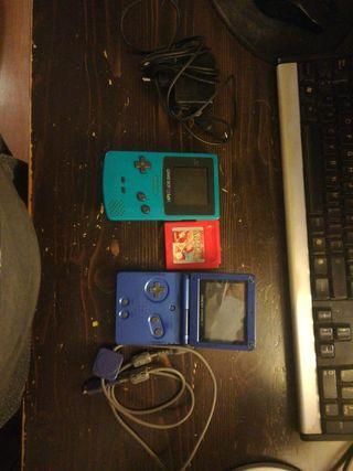 Gameboy Advance SP + Gameboy Color