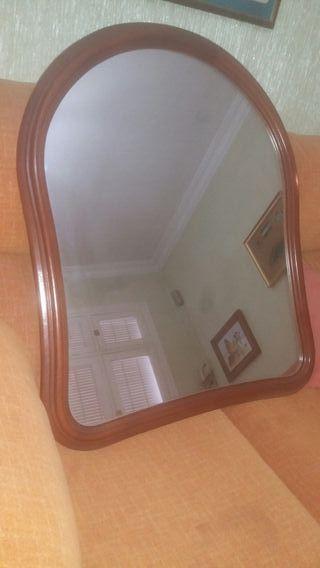 espejo salon entradita grande madera