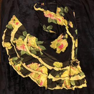 Vestido de cóctel o fiesta ,muy flamenco talla40