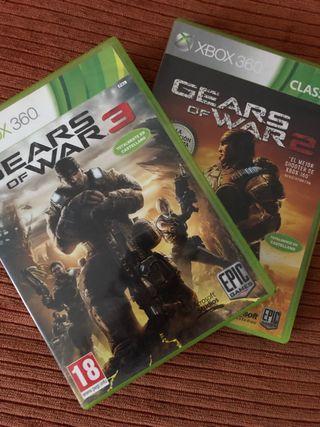 Pack gear of war 2 y 3 xbox360