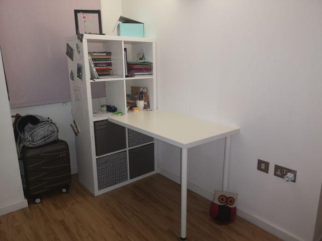 Bookshelves and desk IKEA