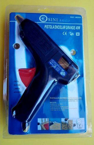 Pistola de encolar, de silicona caliente