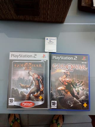 God of War 1 y 2 y tarjeta 8 MB original Sony Ps2