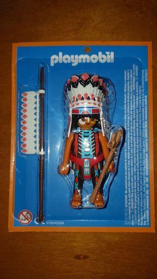 playmobil aventura historia jefe indio Sioux