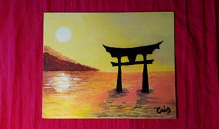 An Evening with You In Japan - ORIGINAL ACRYLIC