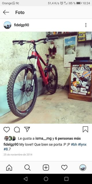 Bicicleta BH Lynx 6 8.7 ALU Talla L 27'5