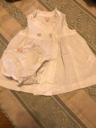 Vestido gocco 3-6 meses