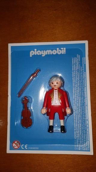 playmobil aventura historia Mozart músico violín