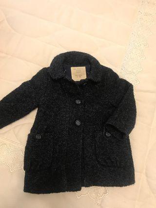 Abrigo lana azul marino 9/12 meses