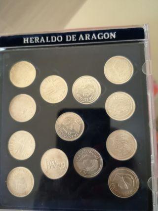 Arras aragonesas en plata del Heraldo de Aragon