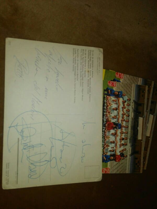 Postales real Madrid, temporada 72-73 firmada