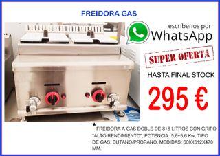 Freidora gas 8+8 L grifos