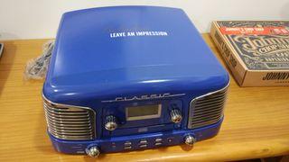 Reproductor CD, Vinilo, radio y más
