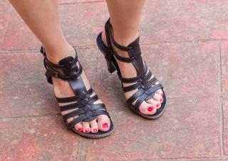 Sandalias de tacon piel ESPERANZA CARRASCO.