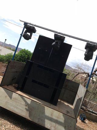 Equipo de sonido y luces para fiestas ALQUILER