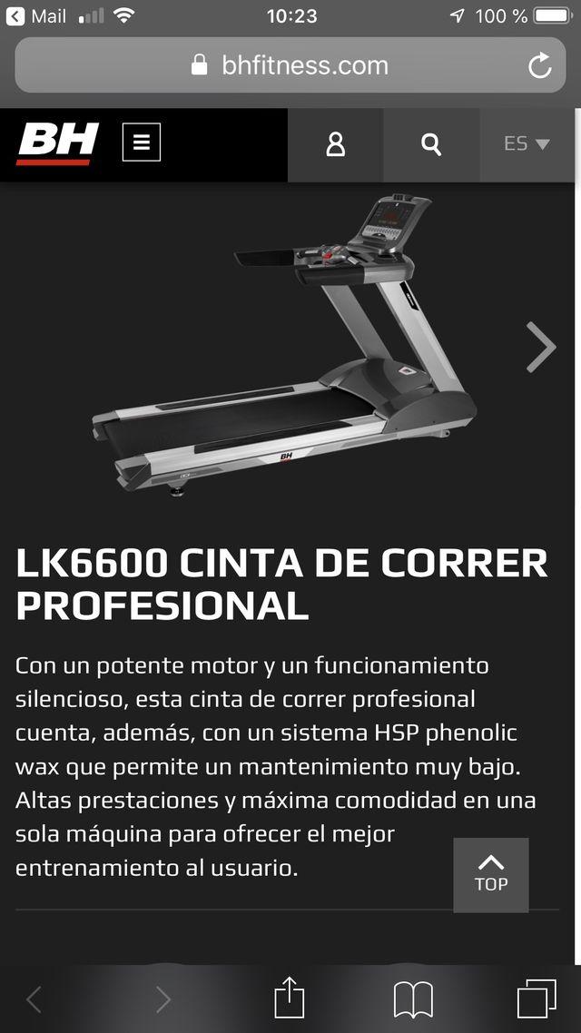 CINTA DE CORRER PROFESIONAL BH