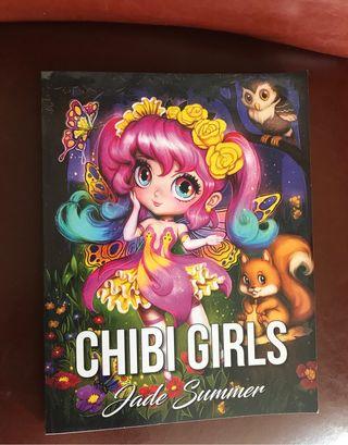Libro de colorear chibi girls