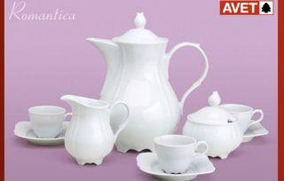 juego de café 27 piezas porcelana grand calidad
