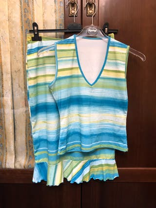 Conjunto falda y camiseta verano T. S/M