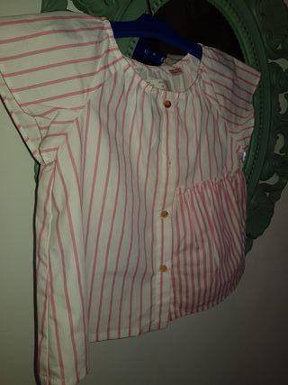 ropa blusa camisa camiseta top Zara Kids t.2/3