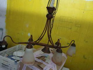 lámpara vintage de cobre deja wasap abajo