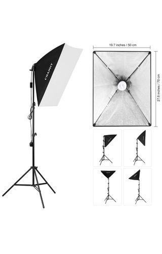CRAPHY Softbox Kit Luz de Iluminación Estudio 700w