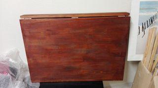 mesa abatible de madera
