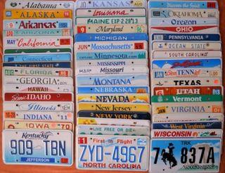 Lote matrículas 50 Estados