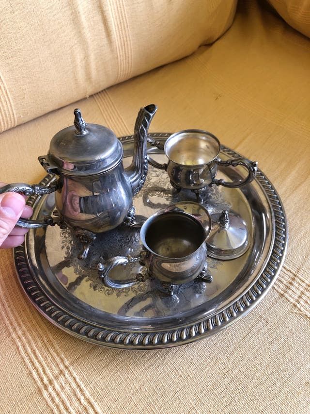 Juego de té de alpaca ENVÍO GRATIS