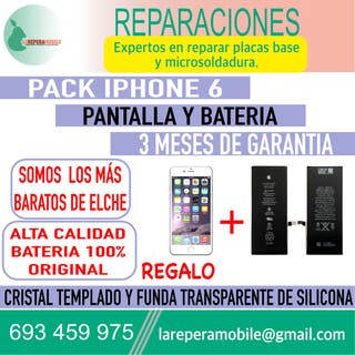Cambiar pantalla iPhone 6 cambiar batería iphone 6
