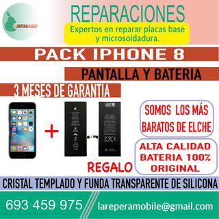 Cambiar pantalla iPhone 8 batería iPhone 8