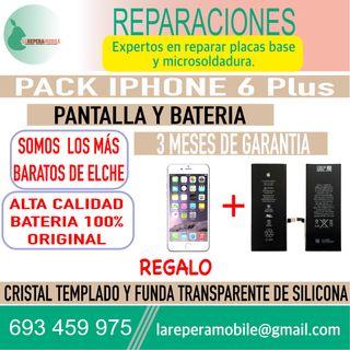 Cambiar pantalla iPhone 6 Plus batería 6 plus
