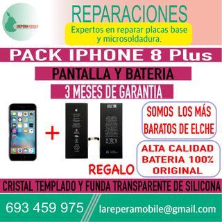 Cambiar pantalla iPhone 8 Plus batería 8 plus