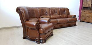Sofas De Piel y Roble Rusticos