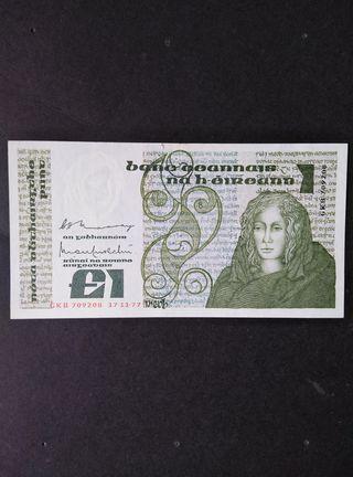 Irlanda 1 libra de 1977. EBC-