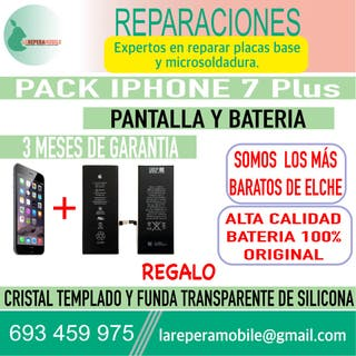 Cambiar pantalla iPhone 7 Plus batería 7 plus