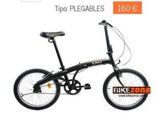 Bicicleta plegable decathlon nueva btwin urbana