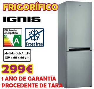 Frigorifico Ignis INOX 1,89m A+