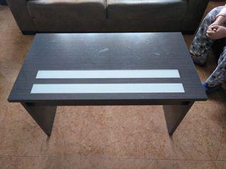 mesa centro elevable con cristales para sofas