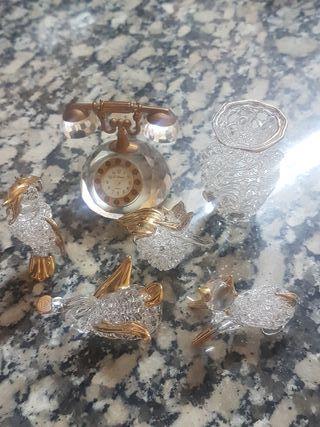 Figuritas de cristal y oro