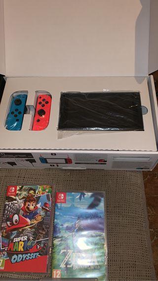 Pack Nintendo Switch mandos y juegos